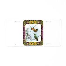 Rufous Hummingbirds Aluminum License Plate