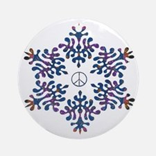 Alchemy snow peace Ornament (Round)