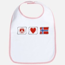 Peace, Love and Norway Bib