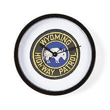Wyoming Highway Patrol Wall Clock
