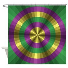 Mardi Gras Illusion Shower Curtain