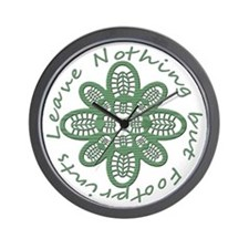 Leave Nothing Boot Green Wall Clock