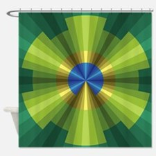 Peacock Illusion Shower Curtain