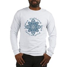 Leave Nothing Boot Print Blue Long Sleeve T-Shirt