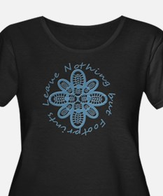 Leave Nothing Boot Print Blue T