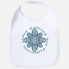 Leave Nothing Boot Print Blue Bib