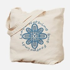 Leave Nothing Boot Print Blue Tote Bag