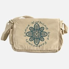 Leave Nothing Boot Print Blue Messenger Bag
