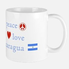 Peace, Love and Nicaragua Mug