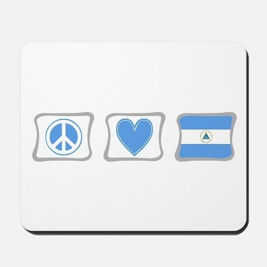 Peace, Love and Nicaragua Mousepad