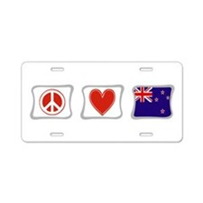Peace, Love and New Zealand Aluminum License Plate