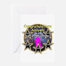 Grad Girls Aaliyah: 0002 Greeting Card