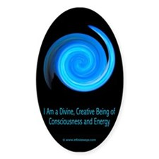Consciousness and Energy 1 Oval Decal