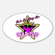 Grad Girls Aaliyah: 0003 Sticker (Oval)