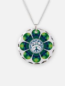 peace flower meditation Necklace