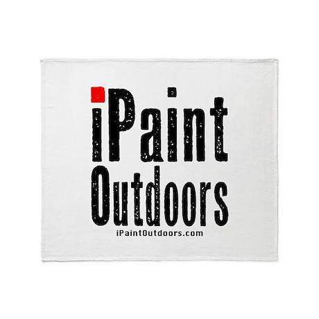 iPaintOutdoors logo Throw Blanket