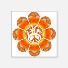 "peace flower summer Square Sticker 3"" x 3"""
