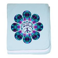 peace flower harmony baby blanket