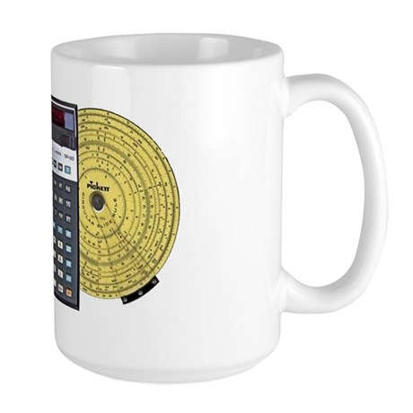 Large Mug with Slide Rule Calculator, ISRM Logo