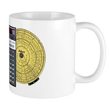 Mug with Slide Rule Calculator ISRM Logo