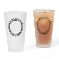 Learn To Live White Shirt Drinking Glass