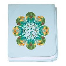 Peace Flower - Abundance baby blanket