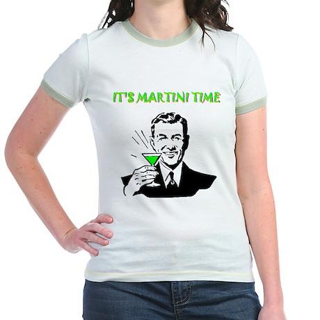 It's Martini Time Jr. Ringer T-Shirt