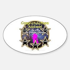 Grad Girls Addison: 0002 Sticker (Oval)