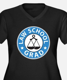 Law School Grad Women's Plus Size V-Neck Dark T-Sh
