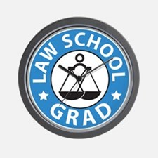 Law School Grad Wall Clock