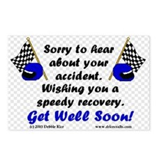 Racing Get Well Postcards (Package of 8)