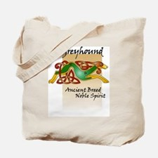 Colorful Celtic Greyhound Tote Bag