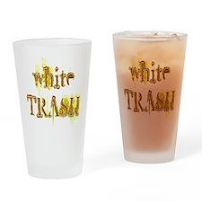 White Trash Drinking Glass