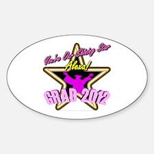 Grad Girls Alexa: 0003 Sticker (Oval)
