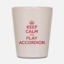 Keep Calm Play Accordion Shot Glass