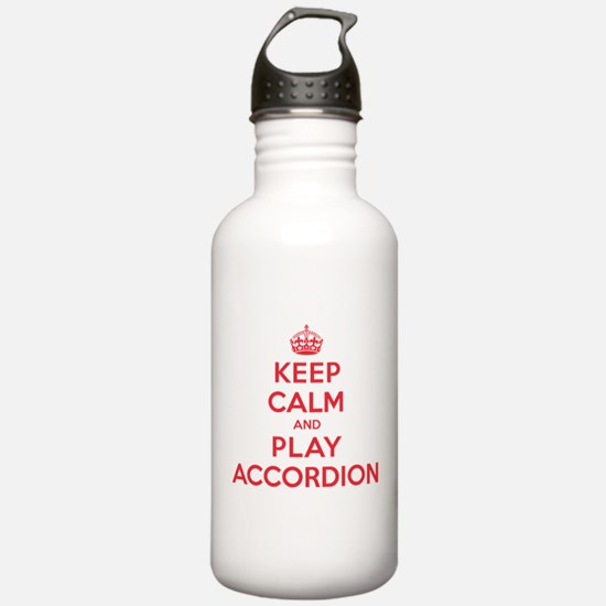 Keep Calm Play Accordion Water Bottle