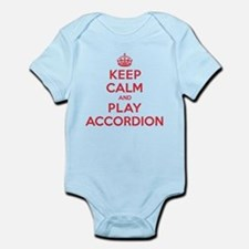Keep Calm Play Accordion Infant Bodysuit
