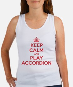 Keep Calm Play Accordion Women's Tank Top