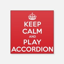 "Keep Calm Play Accordion Square Sticker 3"" x 3"""