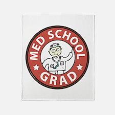Med School Grad (Male) Throw Blanket