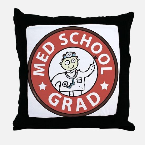 Med School Grad (Male) Throw Pillow