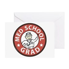 Med School Grad (Male) Greeting Card