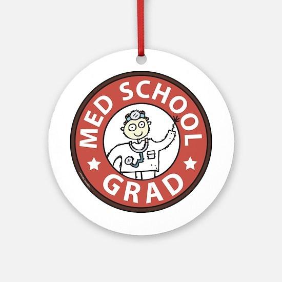 Med School Grad (Male) Ornament (Round)