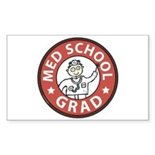Med School Grad (Male) Decal