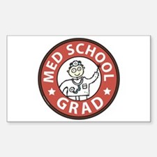 Med School Grad (Male) Decal