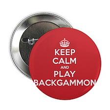 "Keep Calm Play Backgammon 2.25"" Button (100 pack)"
