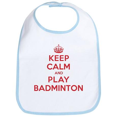 Keep Calm Play Badminton Bib