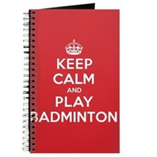 Keep Calm Play Badminton Journal