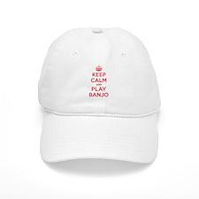 Keep Calm Play Banjo Baseball Cap