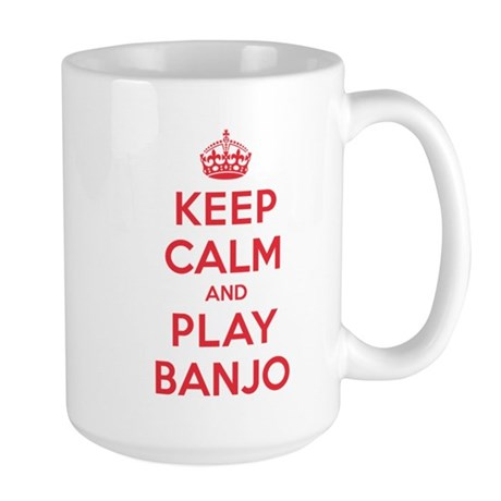 Keep Calm Play Banjo Large Mug